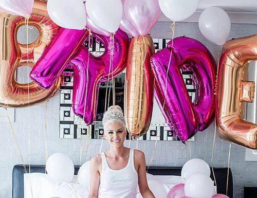 bridal shower alternatives happy future bride in balloons
