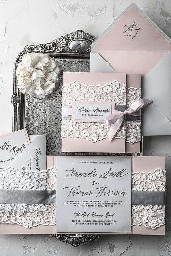 diy wedding invitations lace wedding invitations pocket