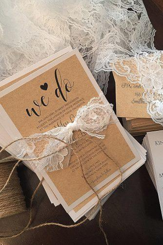 diy wedding invitations lace wedding invitations rustic paper