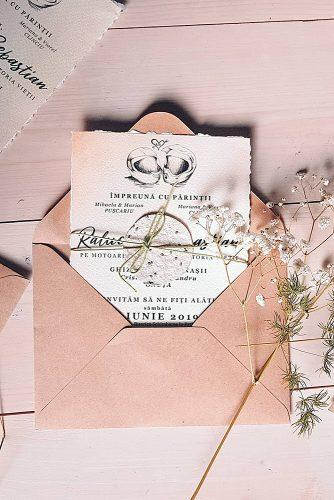 diy wedding invitations rustic wedding invitations envelope dryed flowers