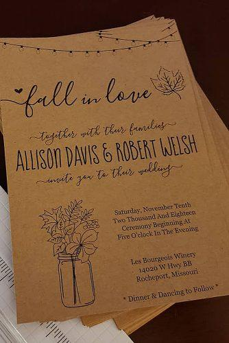 diy wedding invitations rustic wedding invitations paper