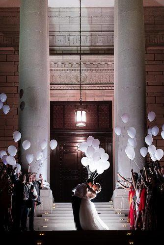 unique wedding reception ideas grand wedding exit with balloons
