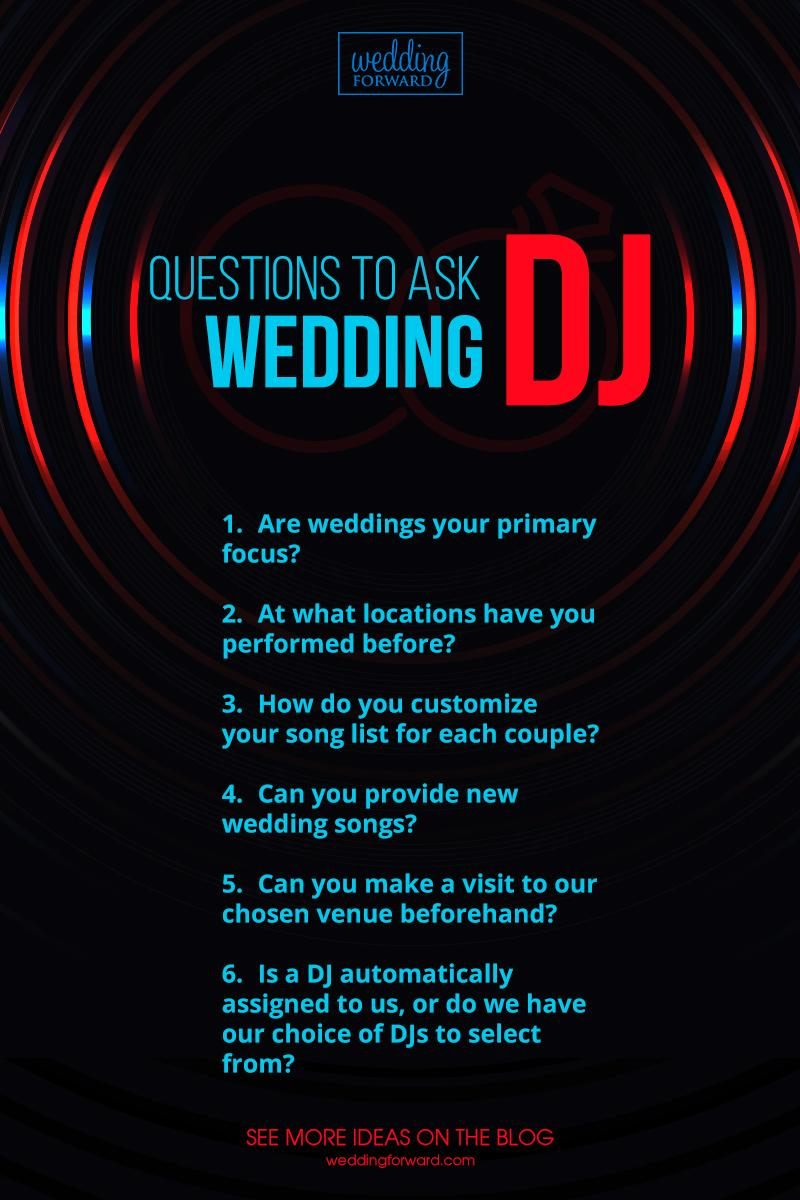 wedding dj infographic questions to ask dj