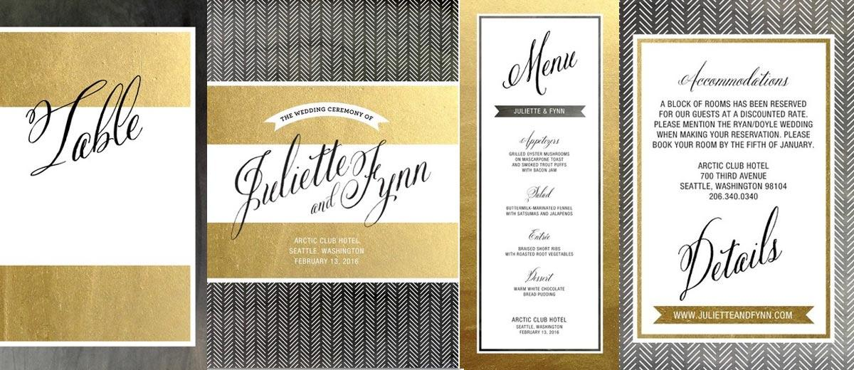 wedding stationery essentials programs place cards menus