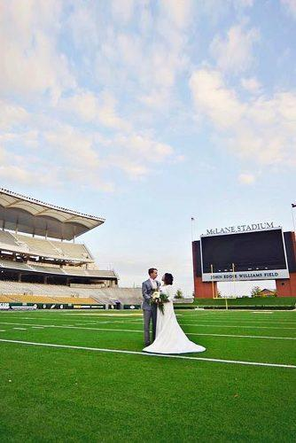 cheap wedding venues stadium football wedding