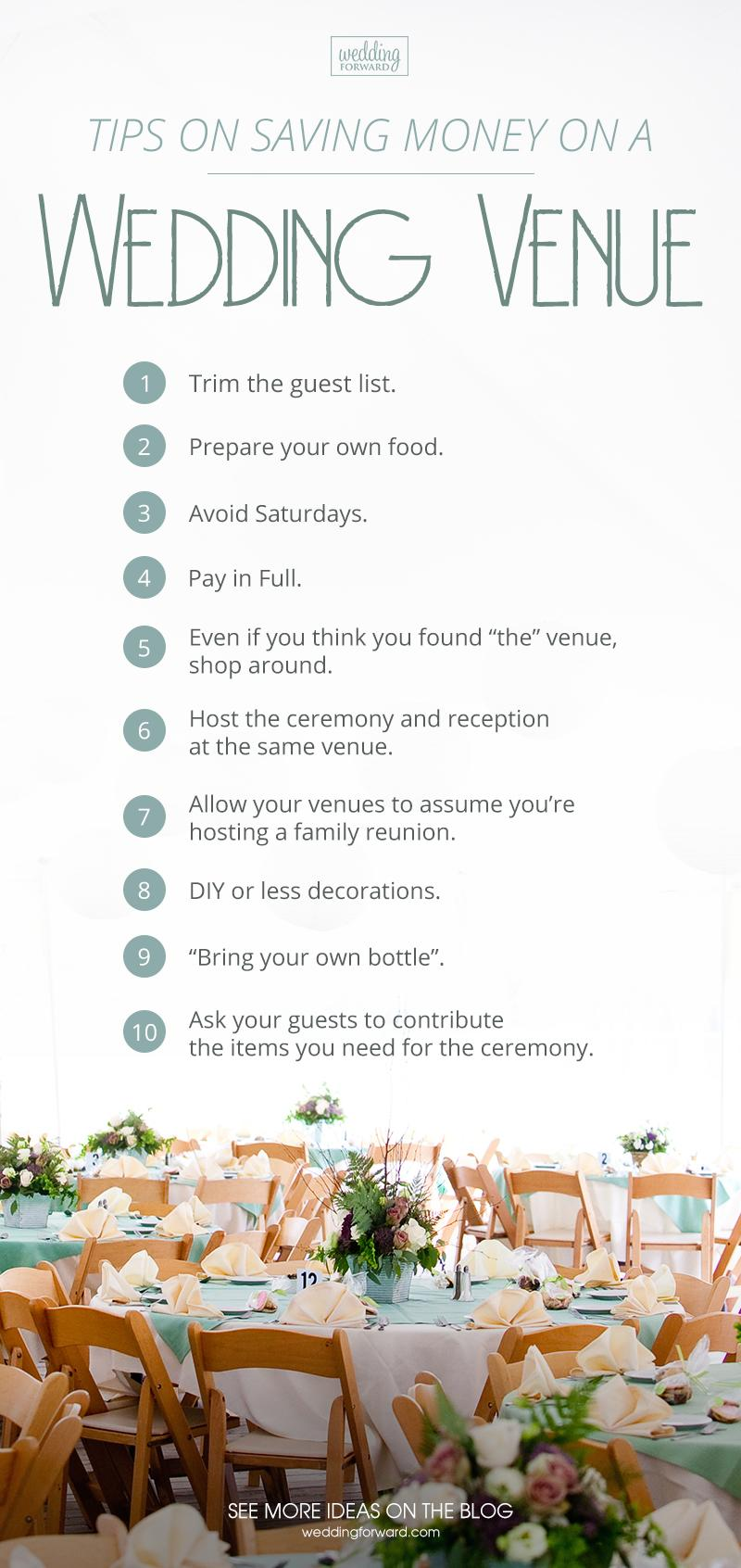 cheap wedding venues tips on saving money on a wedding venue infographic