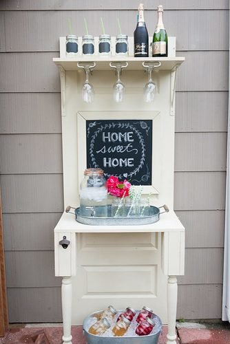 home wedding repurposed bar diy wedding bar