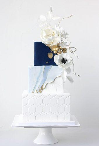 simple elegant chic wedding cakes square cake jenlacake_to