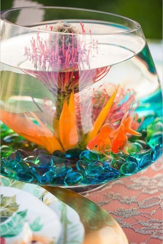 how to make wedding centerpieces aquarium table centerpiece