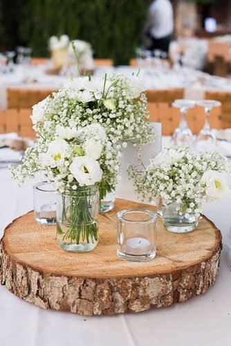 how to make wedding centerpieces babys breath in the mason jar table decor