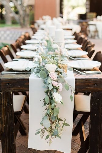how to make wedding centerpieces eucalyptus with roses wedding table decor