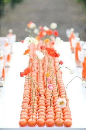 how to make wedding centerpieces orange wedding table runner