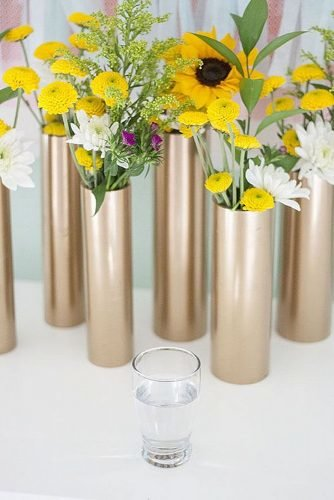 how to make wedding centerpieces pvc pipes gold colored centerpieces