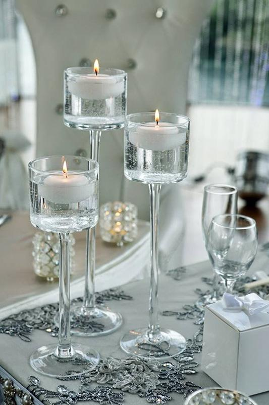 Wedding Table Decor - Floating Candles
