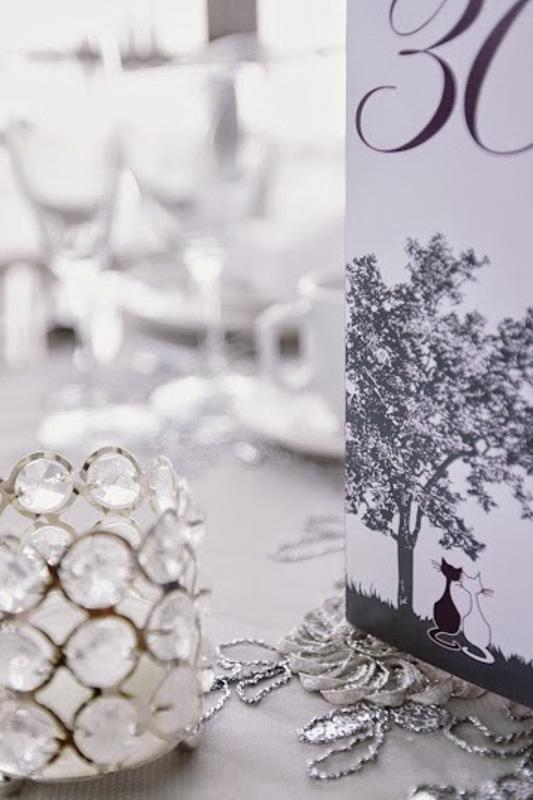 Wedding Table Decor - Numbers