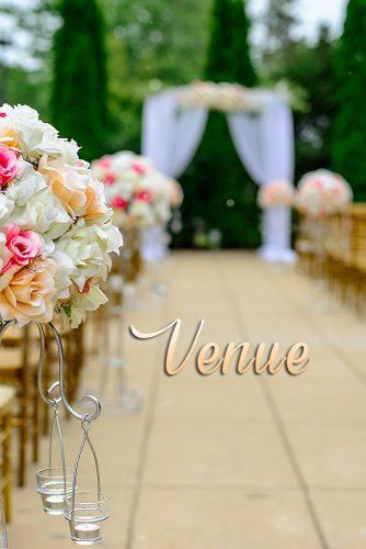 pregnant bride wedding venue decor