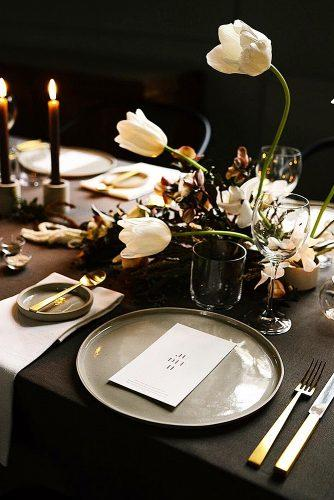 winter wedding wedding reception decor