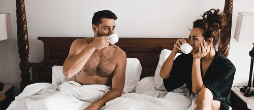 what do men want couple drinking coffee in the bed featured