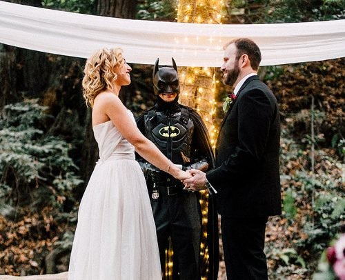personalize wedding unique wedding officiant batman officiant