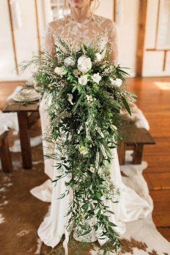 so beautiful greenery cascading bouquet
