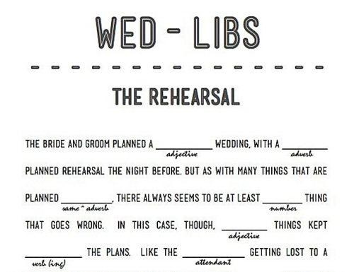 bridal shower games tea party mad libs game