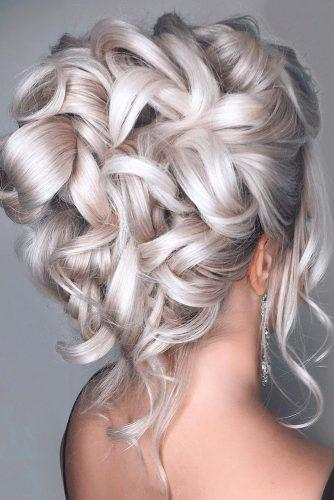 hottest bridesmaids hairstyles high updo with curls on platinum blonde hair annette_updo_artist