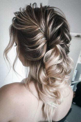 hottest bridesmaids hairstyles ideas curly hair down on medium ombre hair olesya_zemskova