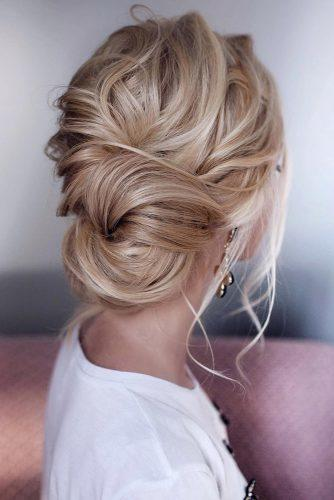 hottest bridesmaids hairstyles ideas elegant low swept bun on medium blonde hair tonyastylist