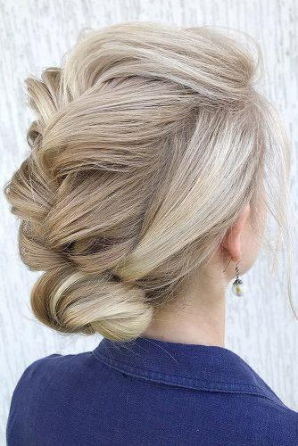 hottest bridesmaids hairstyles ideas low bun with french braid on blonde hair julia_alesionok