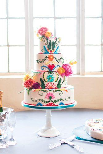 mexican themed wedding cakes 1