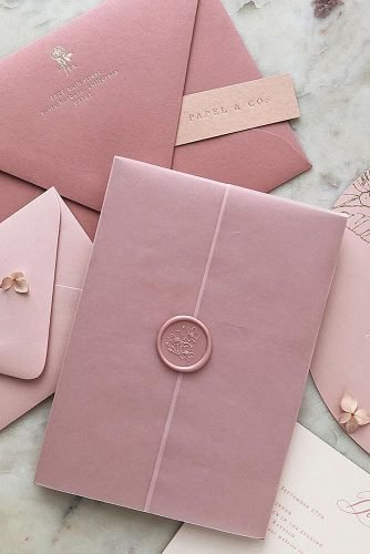 simple wedding ideas stylish pink invitations