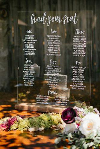 wedding signs acrylic seating chart