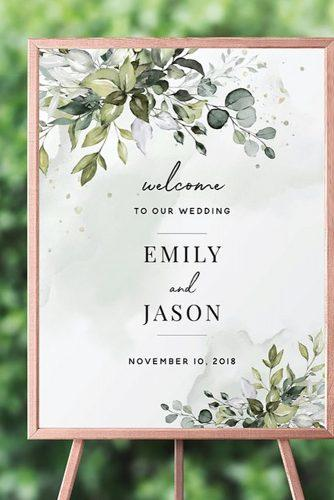 wedding signs boho entrance sign