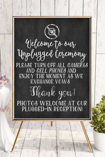 wedding signs chalkboard navy wedding ceremony sign