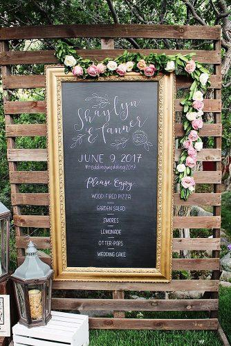 wedding signs old vintage frame chalkboard