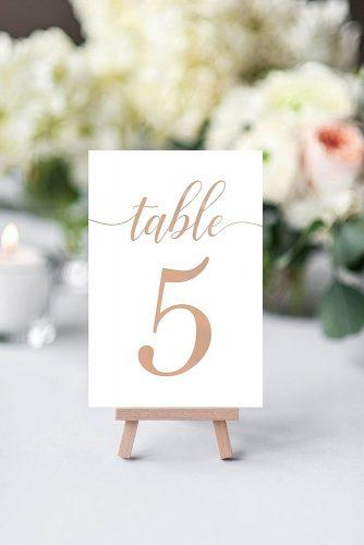 wedding signs printed table number sign