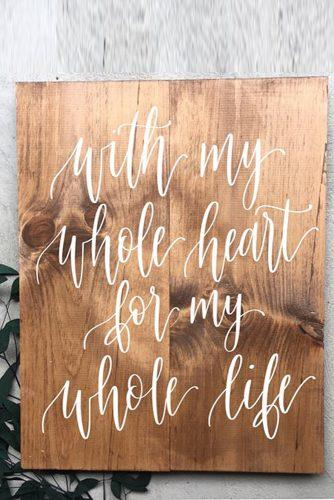 wedding signs vintage wood sign with love quote