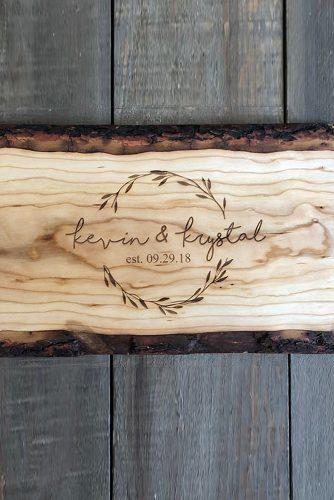 wedding signs wooden rustic engraved sing
