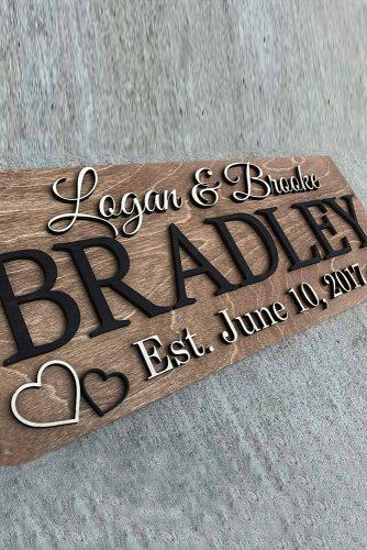 wedding signs wooden stylish wedding sign
