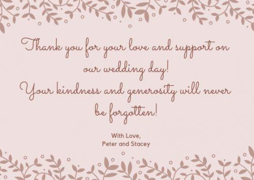 Wedding Thank You Cards Wording [2019 Guide]