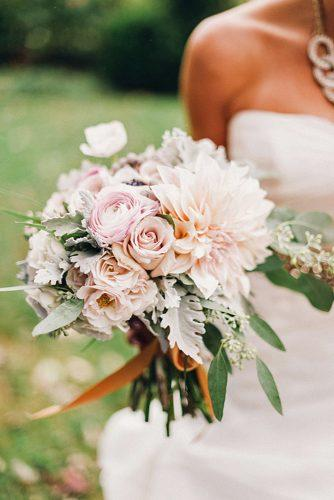 wedding bouquets beautiful unique natural with white roses and white dahlias justin and mary photography