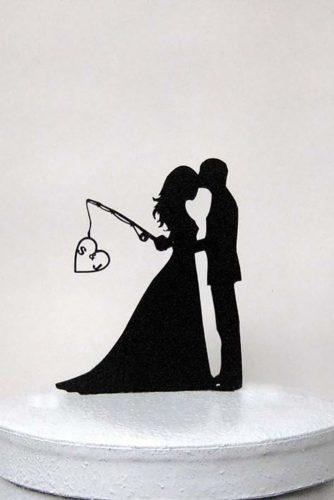 wedding cake toppers cute-silhouette idea plasticsmith