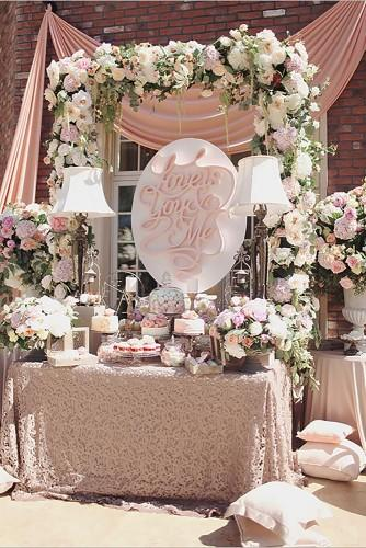 wedding table ideas vintage modern 25