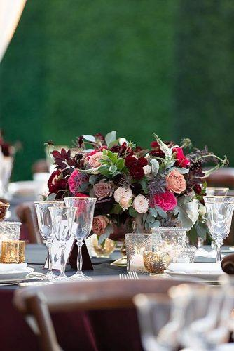 wedding themes burgundy wedding