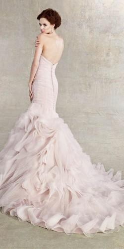 18 peach blush wedding dresses you must see 4