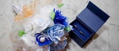 blue wedding bouquets featured