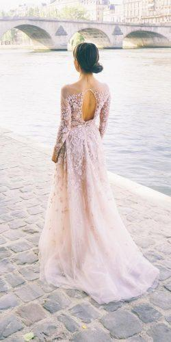 blush-floral-embellishments-open-back-wedding-dresses-with-long-sleeve-zuhairmuradofficial