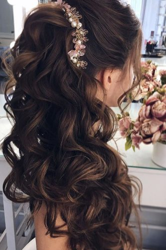 half up half down wedding hairstyles ideas side like pony hair my wedmakeup