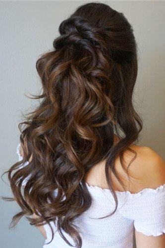 half up half down wedding hairstyles ideas twisted hair jessica tyransky