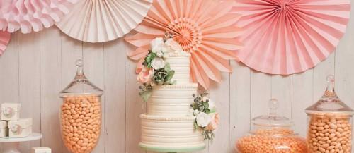 orange peach candy buffet